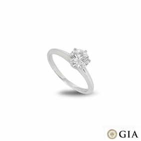 Tiffany & Co. XXX Round Brilliant Cut Diamond Ring in Platinum 1.02ct F/VVS2